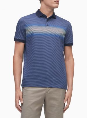 Calvin Klein Men's Liquid Touch Gradient Stripe Polo Shirt