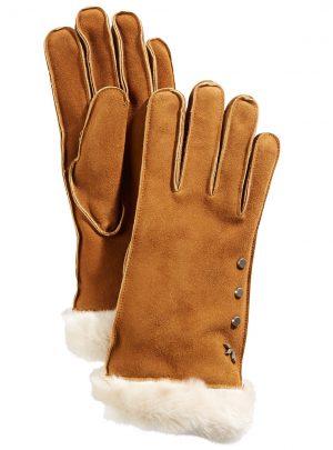 Koolaburra By UGG Studded Gloves with Faux Fur Cuff