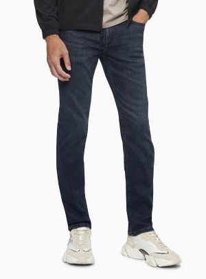 Calvin Klein Men's Slim Fit Hi Stretch Ansel Dark Lux Lined Jeans
